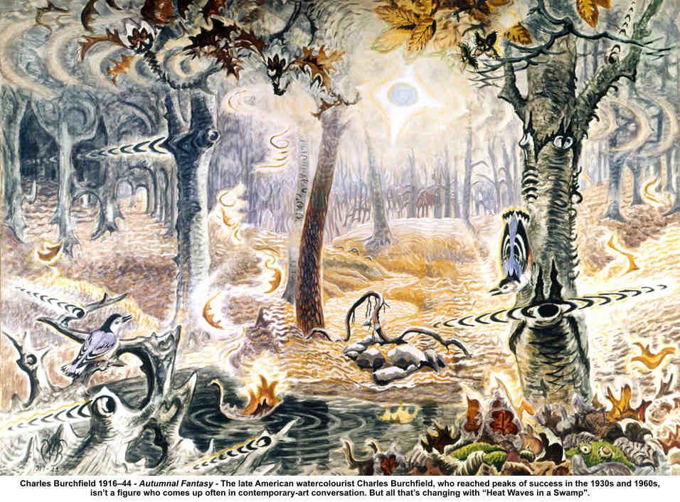 Charles Burchfield Autumnal Fantasy