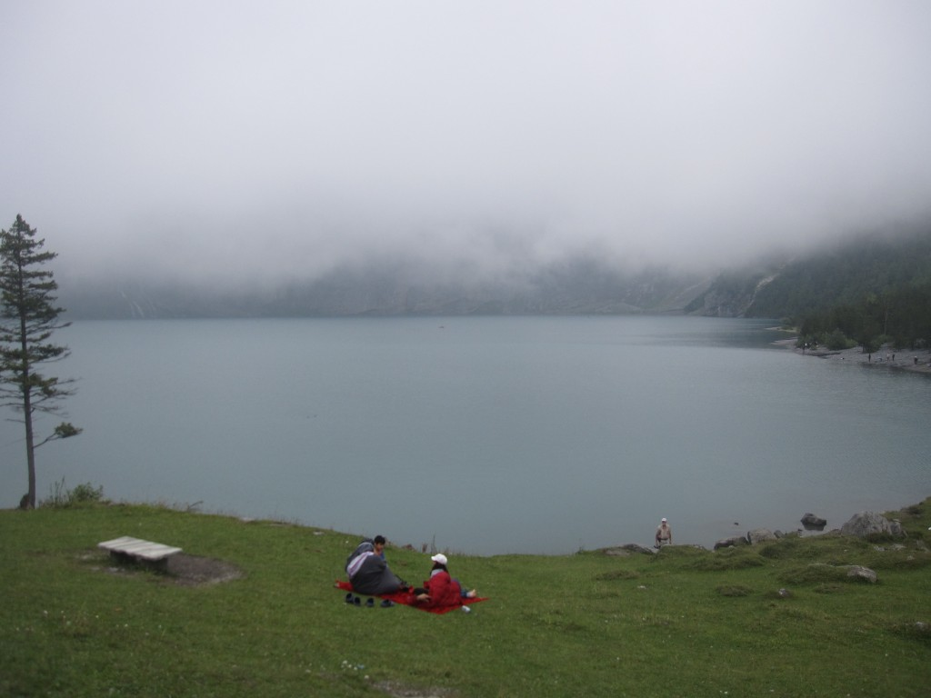 Fog over Oeschinensee