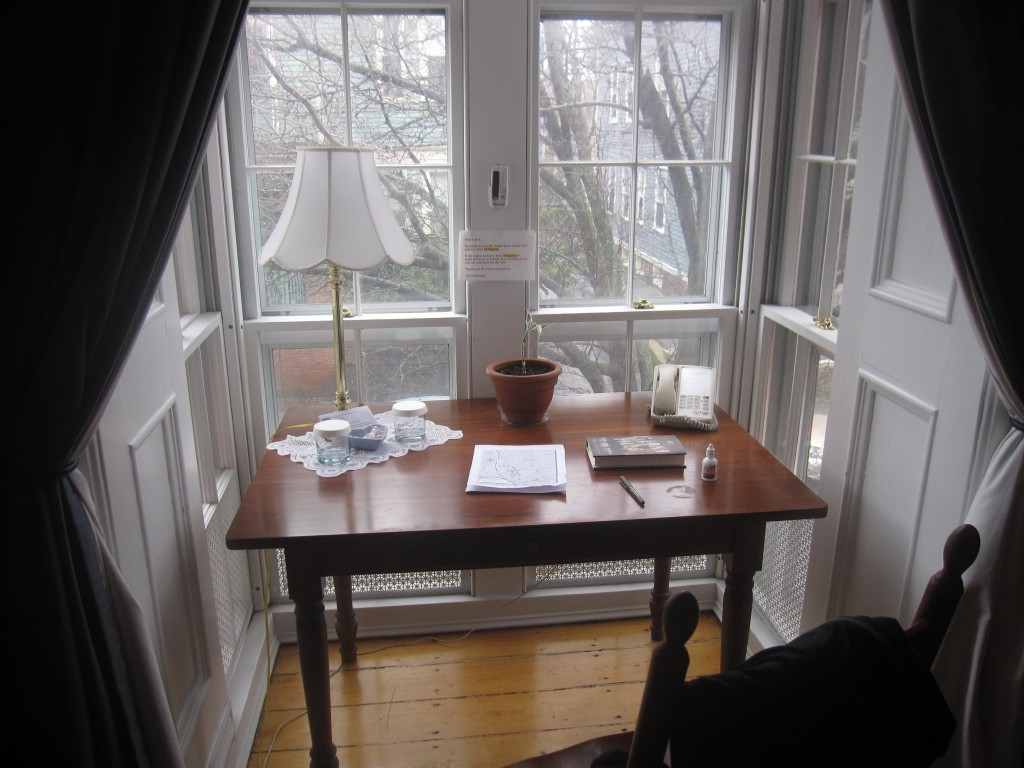 My little writing nook at the B&B