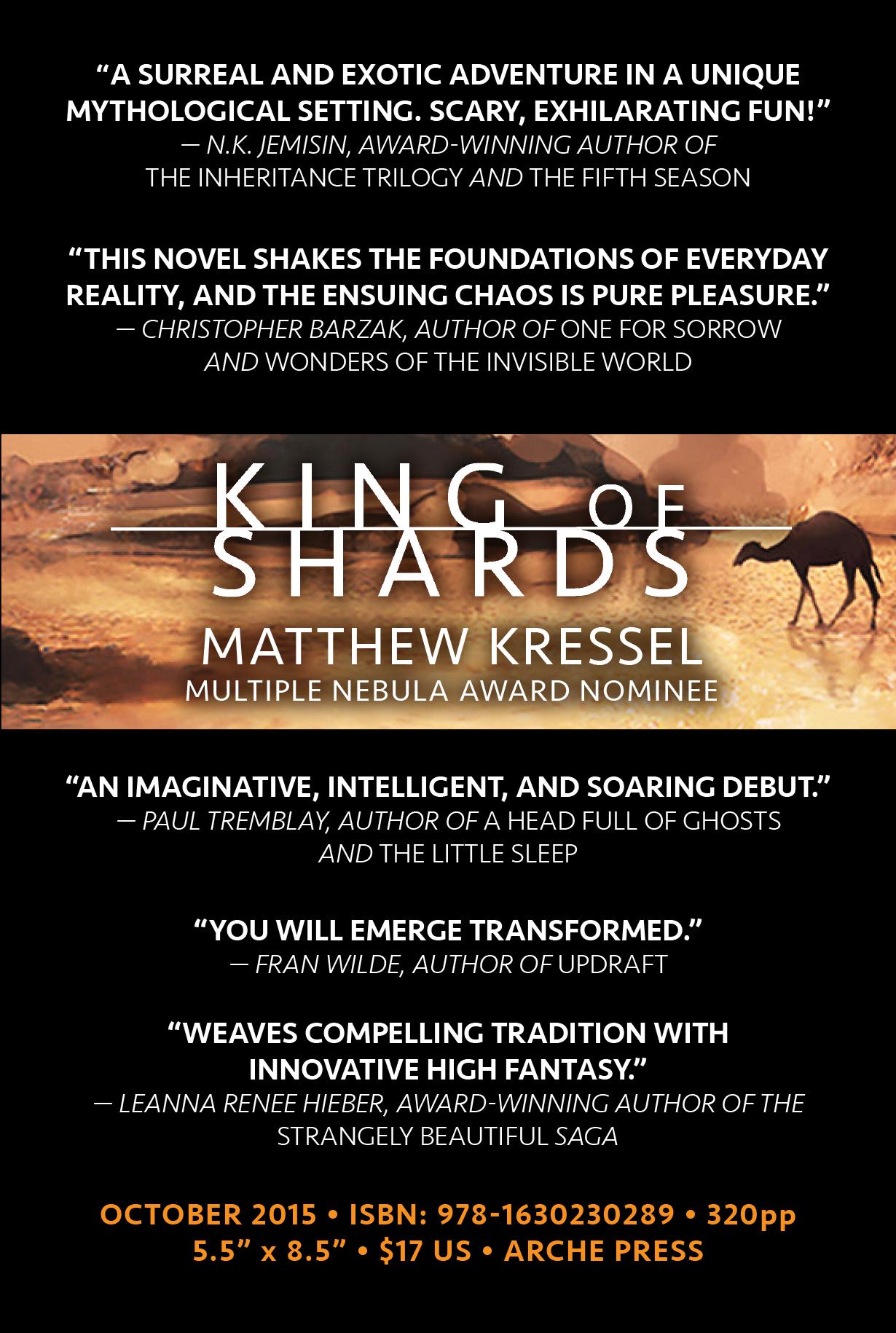 King of Shards - Flyer Back