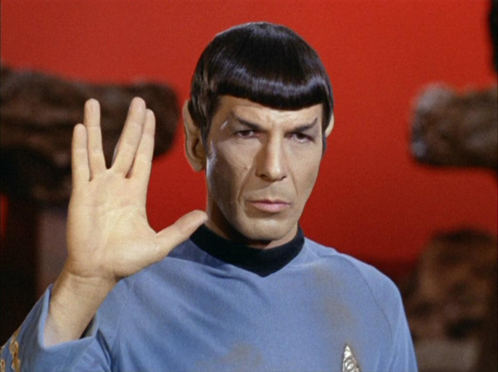 Spock and his Vulcan Salute