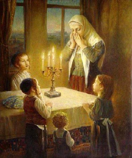 """""""Welcoming The Shabbat"""" by Elena Flerova"""